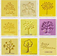 Heart Tree Design Handmade Yellow Resin Soap Stamp Stamping Soap Mold Craft Free Shipping