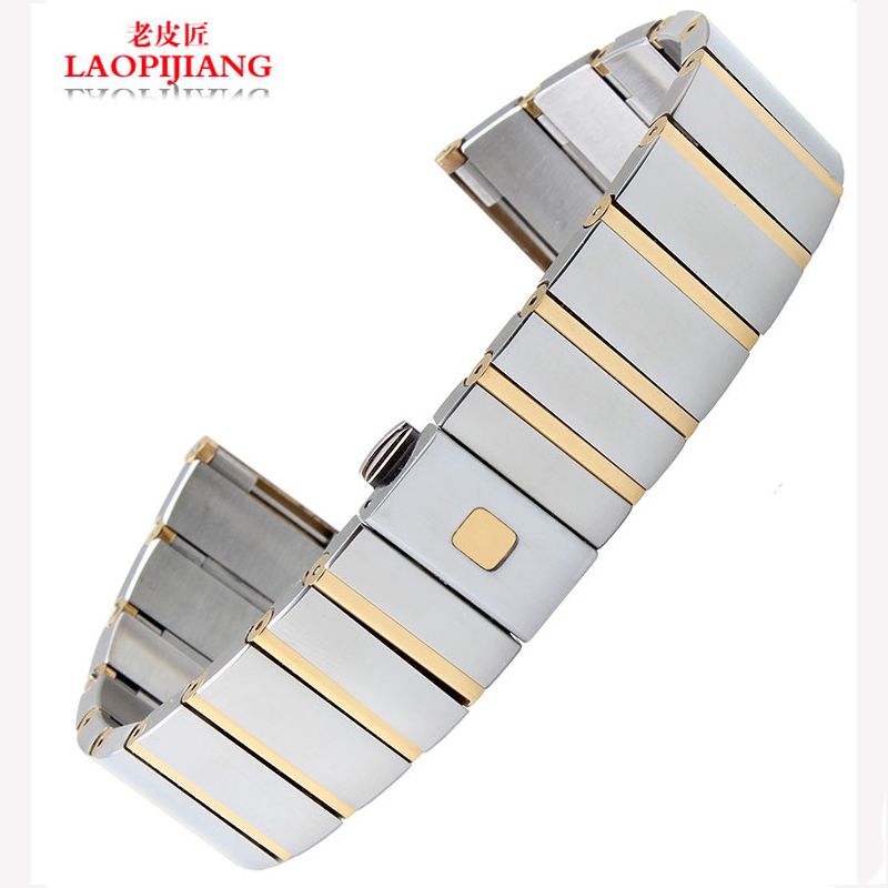 Laopijiang Solid steel strap adapter and watch band Constellation Double Eagle fashion watches accessories 18/23/25mm<br>