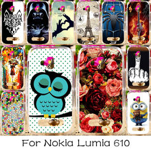TAOYUNXI Phone Case For Nokia Lumia 610 N610 Housing Cover Plastic Bag Shell For Nokia Lumia 610 N610 Back Case Cover Skin