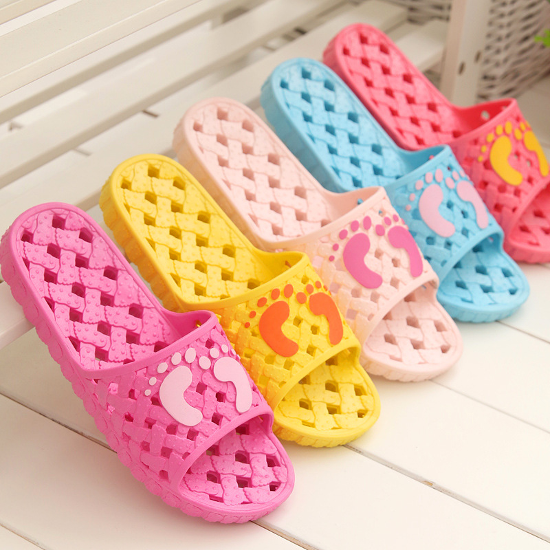 A Pair PVC Non-slip Bathroom Women Slippers Cut-outs Candy Color Home Ladies Slippers House Indoor Slippers Free Shipping  NEW06<br><br>Aliexpress