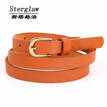 NEW brown PU childrens belts 2017 children's waist belts for pants trousers boy's jeans belt metal buckle pin sterglaw A011