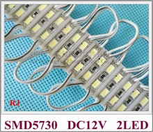 26mm*07mm 2 led SMD 5730 LED module light lamp LED back light for mini sign and letters DC12V 2led IP65(China)