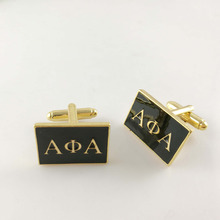 1pair   Free shipping  Alpha phi Alpha Fraternity   custom  Cufflinks  Jewelry