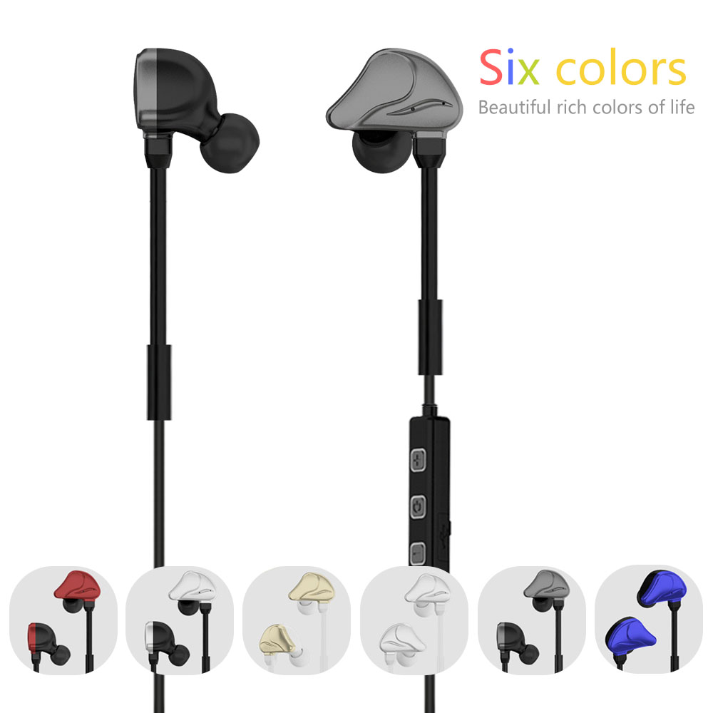 Noise Cancelling Q6 Bluetooth V4.1 Portable Wireless Running Earbuds Stereo Headset with Mic for iPhone for Samsung Smaprt Phone<br><br>Aliexpress