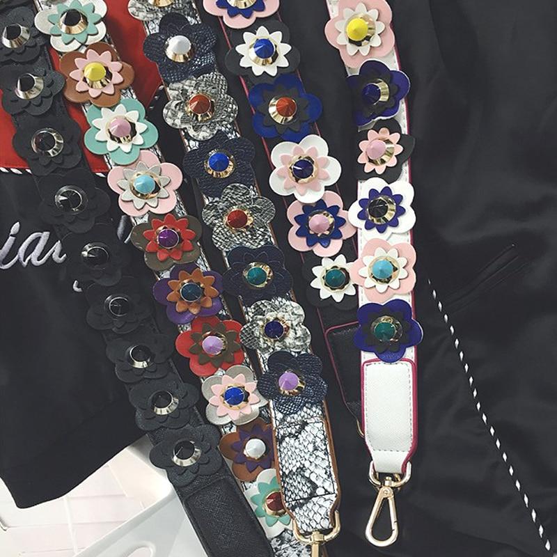 Hot fashion personality flower rivet handbags belts women bags strap women bag accessory bags parts pu leather icon bag belts<br><br>Aliexpress