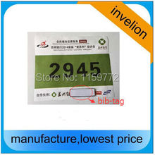 free sample 840-960MHZ bib tag uhf RFID Dogbone Chip Timing Systems for tracking Marathon or Triathlon sticker to runner number(China)