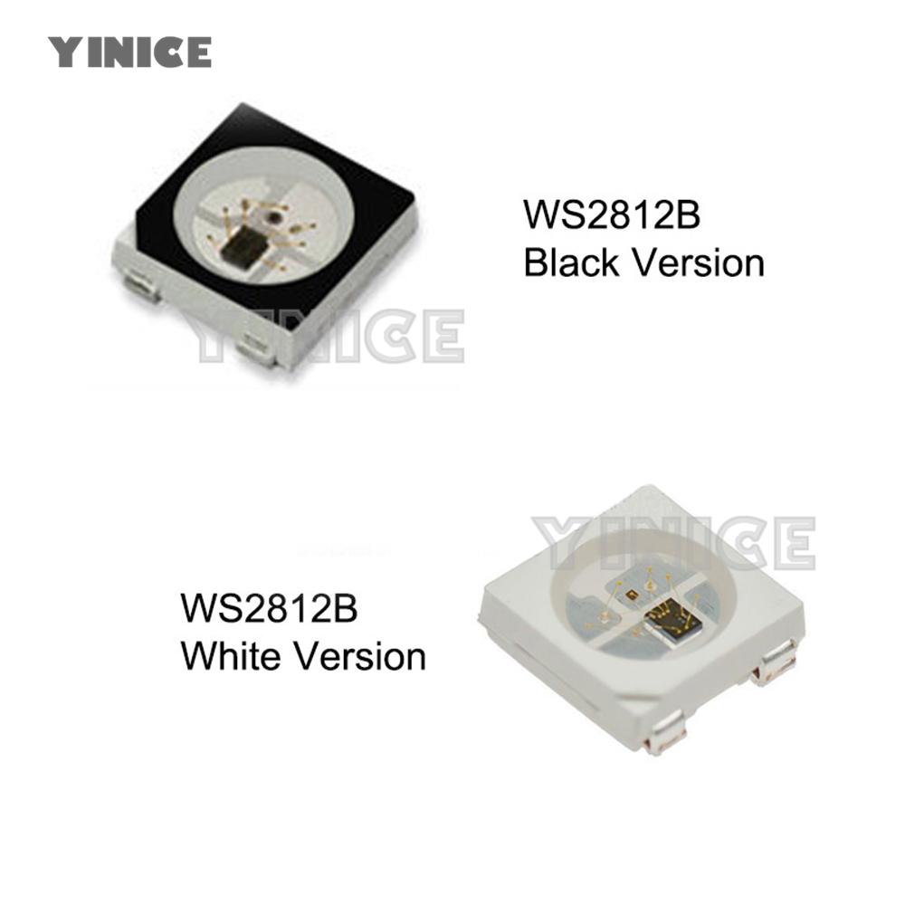 10 x WS2812B LED 5V weiß adressierbar RGB 5050 SMD PLCC4 Neopixel WS2811 IC