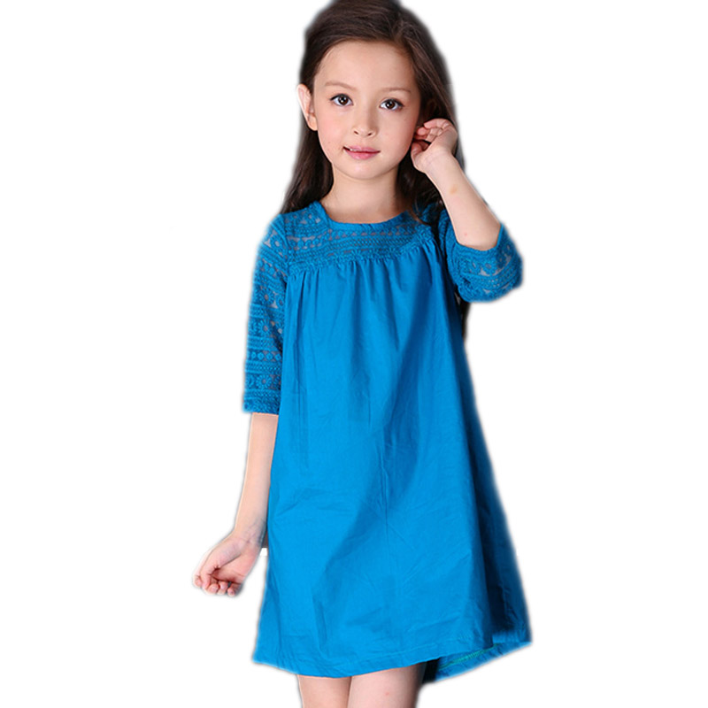 kids party dresses for girls 2017 baby girl clothes summer patchwork lace girl princess dress solid embroidery kids dresses<br><br>Aliexpress