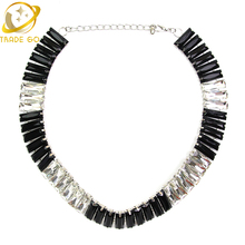 ZA NEW Design Brand Pendants & Necklaces Department Black Resin Bead Crystal Fashion Necklace Cheap Jewelry Statement Necklace(China)