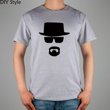 BREAKING BAD black hat sunglasses mustache awesome T-shirt Fashion Brand men t shirt new high quality(China)