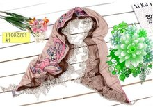 Cotton scarf, Fashion scarves, 2011 new colection, for Winter, Spring. Fashion design! Wonderful for gifts!(China)