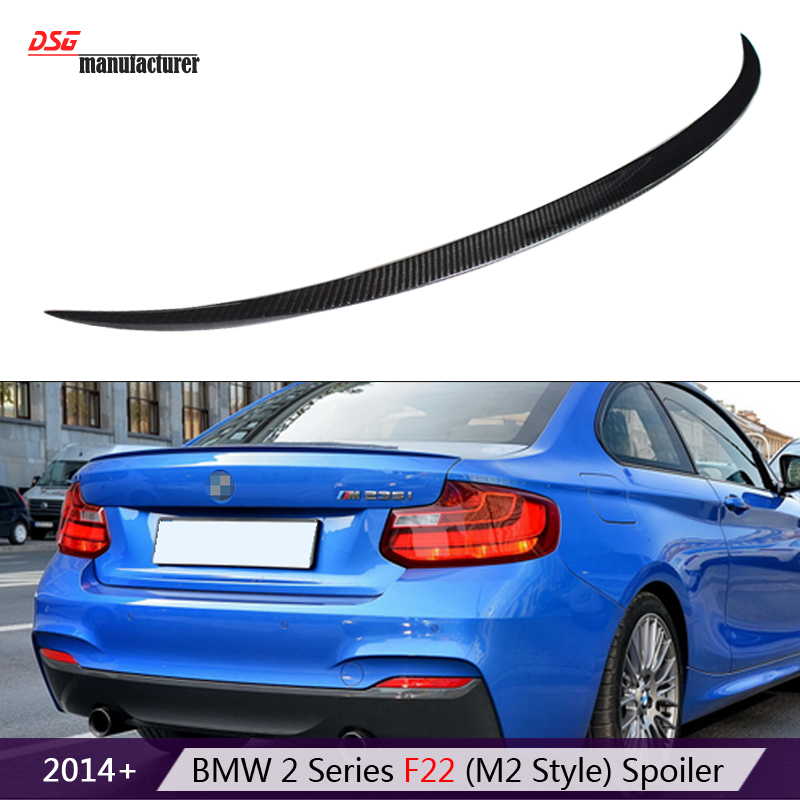 2 series f22 coupe f23 cabriolet  m style coupe cf spoiler carbon fiber rear trunk spoiler wings for bmw 2 series f87 m2 2014 +<br><br>Aliexpress