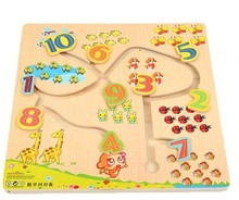 3d slide puzzle maze game one pcs selling wooden board creative numbers