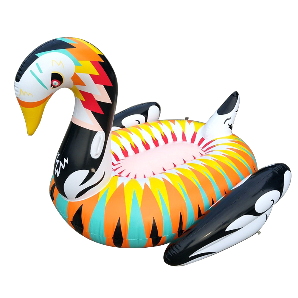 colorful inflatable swan water maress