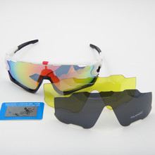 2016 original  Brand JBR 3 Pair Lens Polarized Cycling Sunglasses Eyewear Running Sport Bicycle Glasses sunglasses