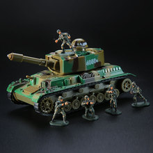 One Set Tank Cars Metal Alloy with Soldier for Children Kid Toys 1:72 Vehicle War Chariot Toys for Boy Birthday Christmas Gifts(China)