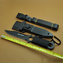 Fixed Blade Knife titanium high hardness quality Leggings Diving knife ABS sheath outdoor survival knives