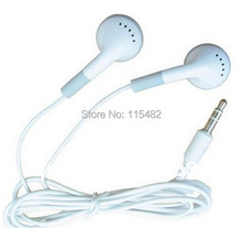 500pcs FREE SHIPPING headphones headset 3.5mm gift earphones for mp3 mp4 CD IPHONE 3 4 5