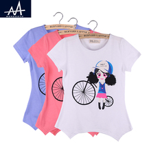 Buy Summer Children Clothing Kids Girl tshirt Short Sleeves Tee Child Printed Cartoon Tee O- neck Tshirt Kids Cute Tops Girl t shirt for $4.00 in AliExpress store