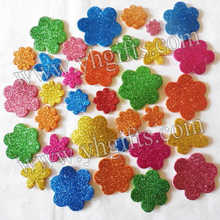 200PCS/LOT.Glitter flower stickers,Kids toy.Scrapbooking kit.Early educational DIY.Cheap.kindergarten craft(China)