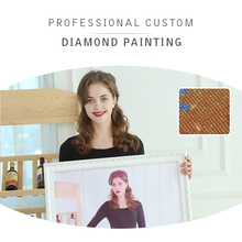 DIY Customized Painting With Diamond Embroidery Diamond Mosaic Kit Square Rhinestones Photo 5D wall Decoration Art Crafts Gift