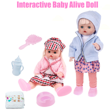 Buy Interactive Toys Babyalive Doll Silicone Baby Dolls Feeding Drinking Talking Pee Lifelike Cute Baby Alive Doll Girls Toys