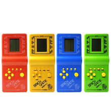 New 2017 children's Players High Light Childhood Developmental Tetris Game Hand Held Electronic Toys Handheld Game Players(China)