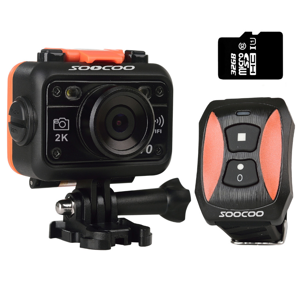 SOOCOO S70 2K Wifi NTK96660 Waterproof Sports Action Camera 170 Degree Lens with Remote Control with 32G Card<br><br>Aliexpress