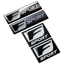 New F Sport 3D Metal Badge Decal Rear Trunk Emblem Sticker for Lexus IS ISF GS RX RX350 ES IS250 ES350 LX570 CT200 Car Stickers(China)