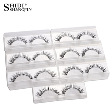 7 Pairs False Lashes Natural Wispies Eyelashes Long Makeup Fake Eyelashes Winged Eyelash Extension Eye Lashes faux cils V13(China)