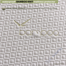 twin size 100x200cm waterproof Bamboo Knit Jacquard mattress Protector Jacquard cloth mattress cover 100% Waterproof W015