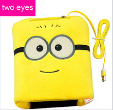 Yellow Minions Edelweiss usb thermal mouse pad cartoon hand warmer mouse pad heated hand