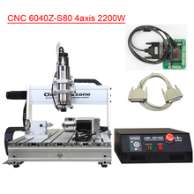 CNC 6040 2200W 4Axis Hobby Desktop Mini Aluminum for Wood Metal Aluminum CNC Cutting Milling Drilling Engraving Machine