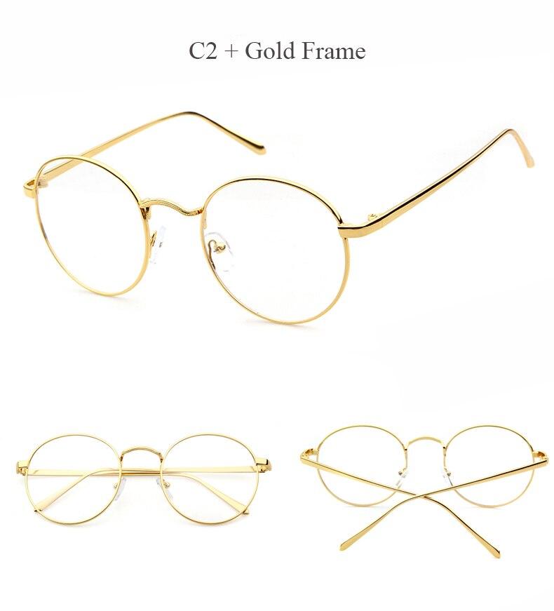 c253d28db7 LongKeeper Oversized Korean Round Glasses Frame Clear Lens Women Men ...