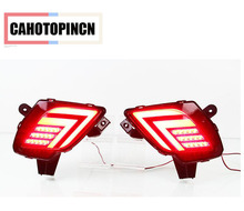 2PCS For Mazda CX-5 CX5 2013 - 2016 Multi-function Car LED Tail Light Rear Bumper Light Rear Fog Lamp Brake Light Reflector(China)