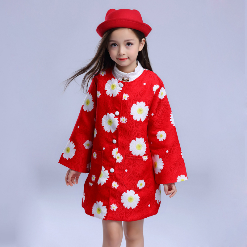 2017 Spring Girls Outerwear &amp; Coats Mother &amp; Kids clothes girls clothing Europe &amp; America teenage girls dress children clothes<br>