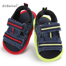 Summer Baby Boy Shoes Infant Soft Bottom Canvas Crib Anti-slip Casual Moccasins Shoes Prewalkers(China)