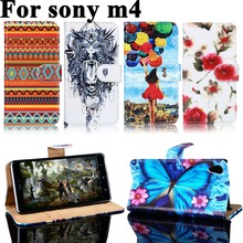 Buy PU Leather Phone Cases Sony Xperia M4 Aqua Housing Covers E2303 E2353 E2306 Dual E2333 E2363 E2312 M4Aqua Wallet Flip Case for $3.78 in AliExpress store