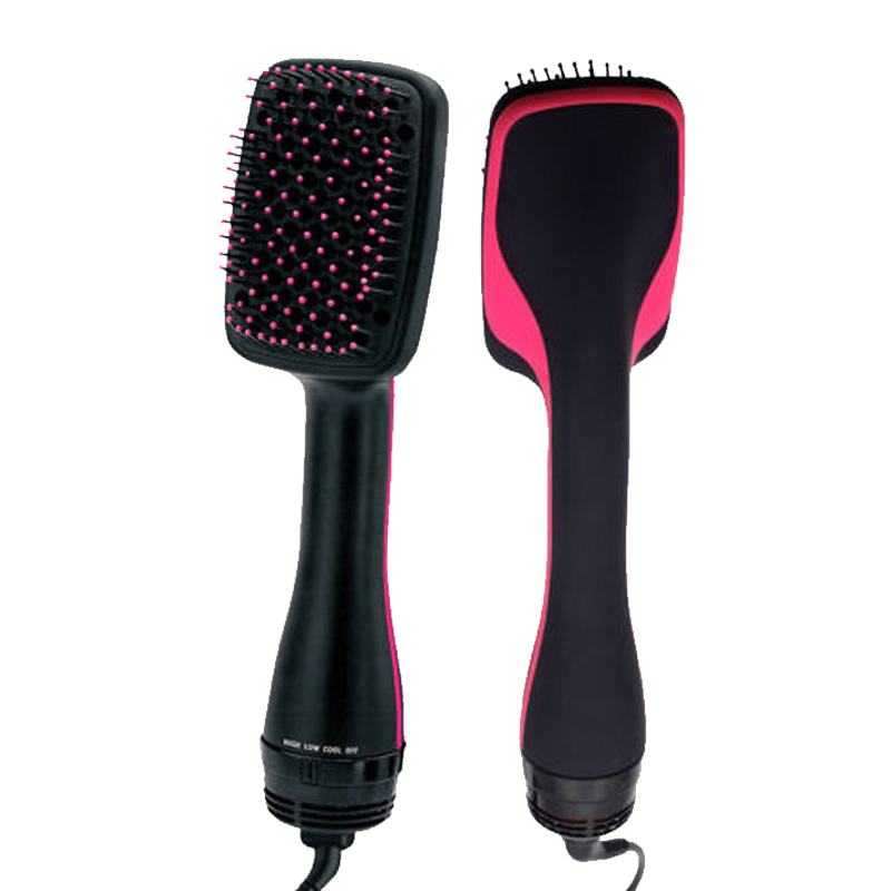 Professional Hair Dryer Blower Straight hair comb Negative ionic Electric hot air Brush Salon Blow hair dry styler<br>