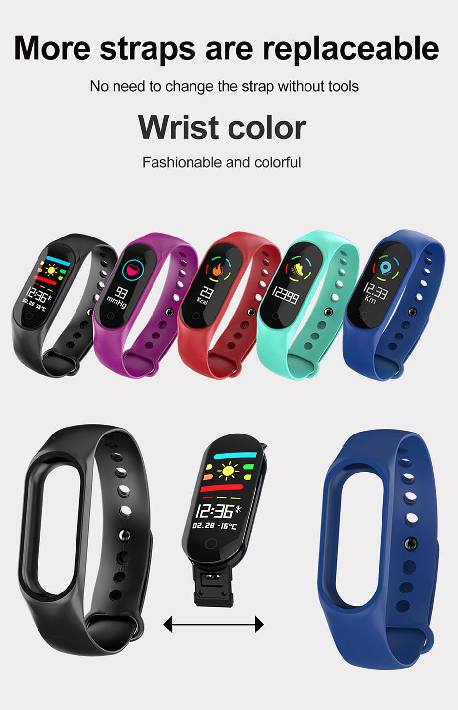 COLMI M3S Smart Bracelet Color-screen Fitness Tracker blood pressure Heart Rate Monitor sleep tracker Wristband For Android IOS 13