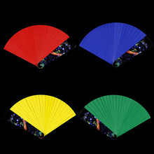 Magic Trick-- Color Changing Magic Fan,Paper Material Storage Magic Tricks Juguetes Kids Toys Easy to Play