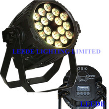 Free shipping 18x18w 6 in 1 rgbwa+uv IP 65 outdoor led par 64