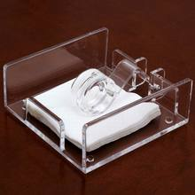 Middle Size Roller Style Seat Type Acrylic Napkin Holder for Sheet Paper(China)