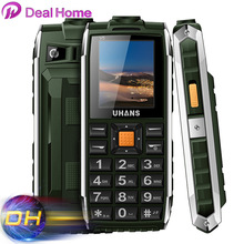 Original Uhans V5 Waterproof Phone Dustproof Shockproof Dual Sim Card 2500Mah Battery GSM Big Speaker n Flashlight Outdoor Phone