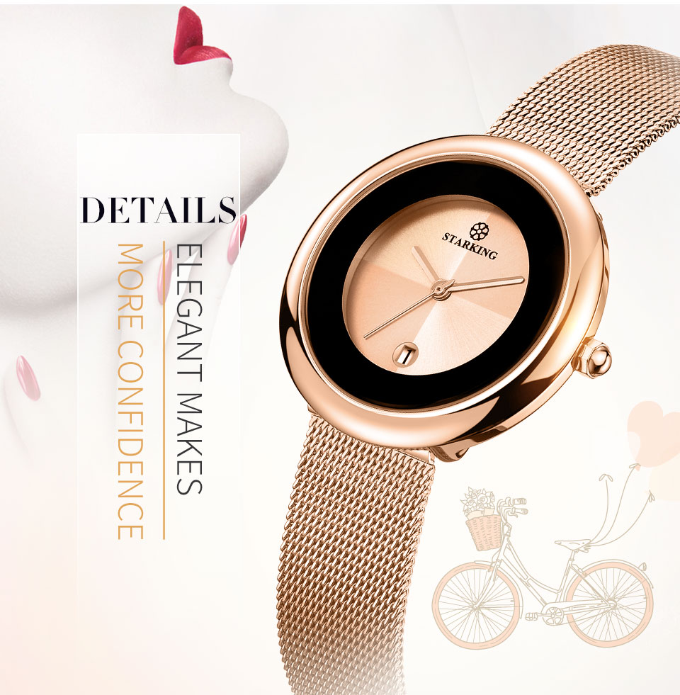 7mm Luxury Brand Women Quartz Watch Relogio Feminino Rose Gold Bracelet Watch Lady Fashion Casual Stainless Steel Wristwatches