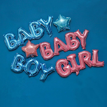 Party Decoration Baby Shower Feast Connected Letter Foil Balloon Blue Boy & Pink Girl & Baby Girl & Baby Boy Ballons