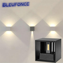 7W LED Outdoor Waterproof Wall Lamp IP67 Surface Indoor Cube LED Wall light,Aluminum White/Black/Grey Up and Down Wall Lamp wy01