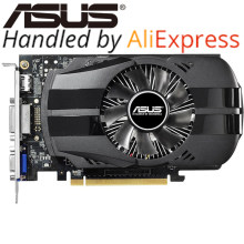 ASUS видео карта оригинальный GTX 750TI 2 ГБ 128bit GDDR5 Видеокарты для NVIDIA GeForce GTX750Ti использовать карты VGA HDMI DVI распродажа(China)