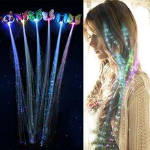 5Pcs LED Flashing Hair Braid Glowing Luminescent Hairpin Novetly Hair Ornament Girls Led Toys New Year Party Christmas Gift(China)