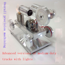Cool !Miniature Stirling engine Advanced versions of medium-duty trucks with lights model hobby Educational Toy Kits